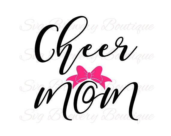 570x452 Cheer Mom, Bow,cheerleader, Cheermom, Cheering, Svg, Png, Dxf, Pdf