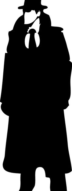 236x620 Silhouette Clipart Detective