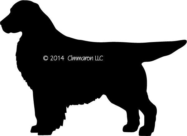 600x437 Golden Retriever Silhouette T Shirt.