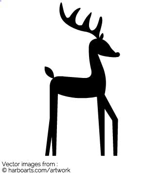 335x355 Download Cute Reindeer Silhouette