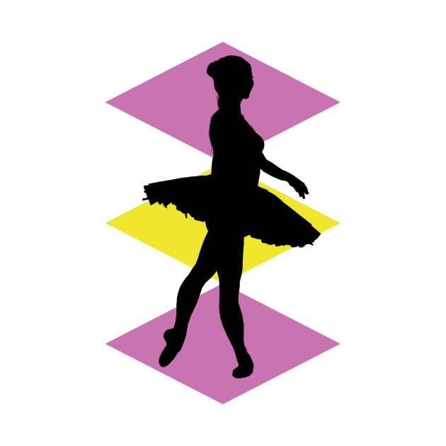 630x630 Dancing Silhouette With Coloured Diamonds