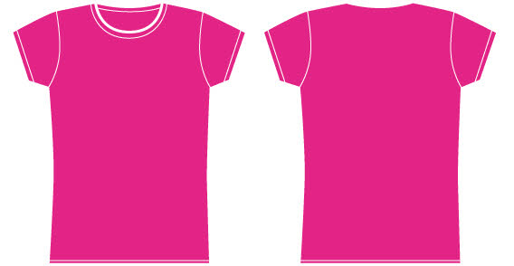 568x294 Girls Pink T Shirt Template Free Vector Vector, Free Vector Images