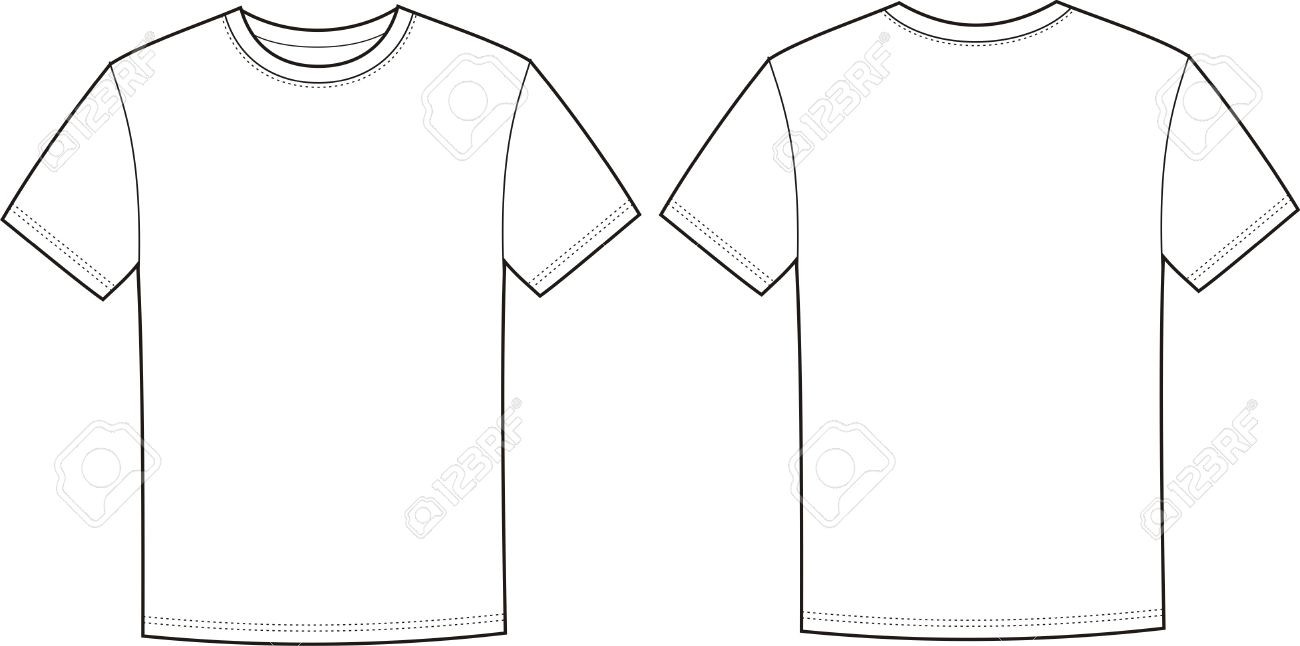 1300x646 Illustration Of T Shirt Front And Back Views Royalty Free Cliparts