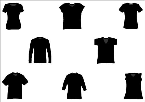502x352 T Shirt Silhouette Vector Pack Silhouette Clip Artsilhouette