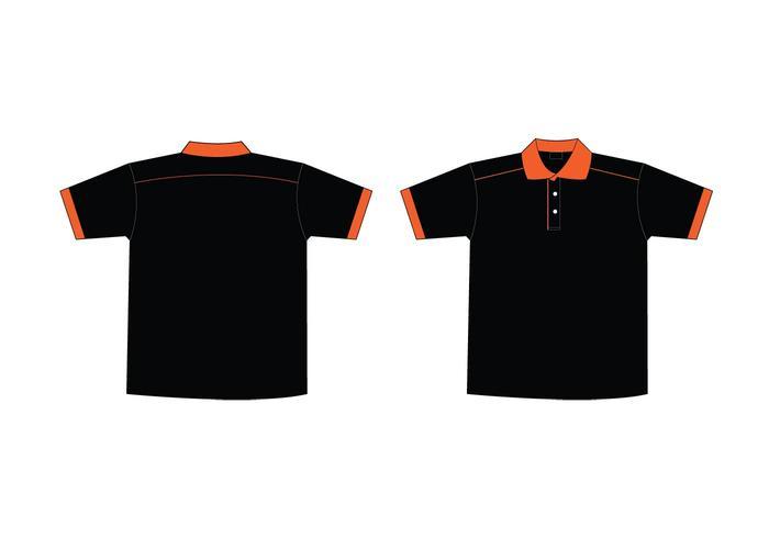 700x490 Free Black Amp Orange Collar T Shirt Template