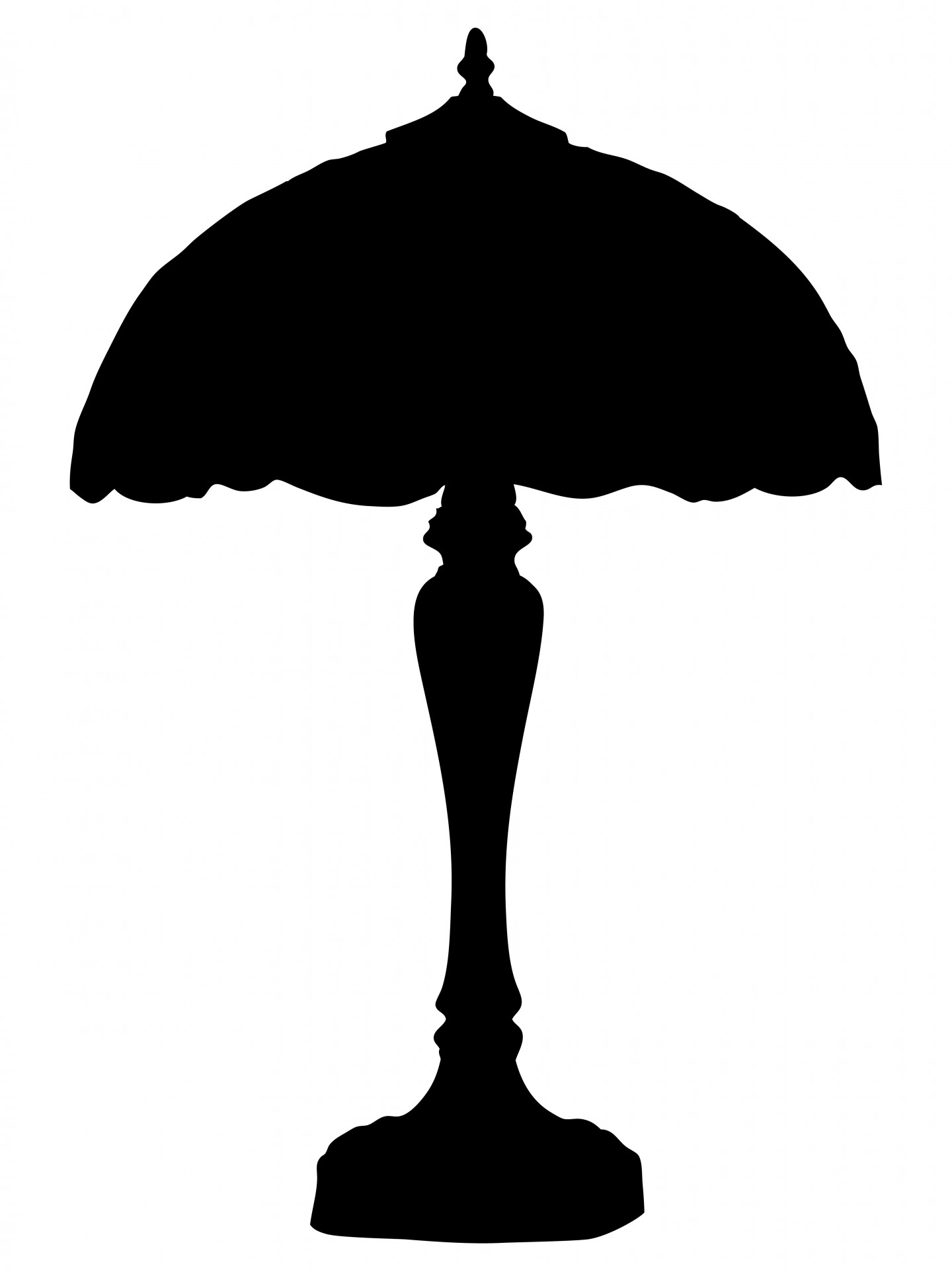 1440x1920 Lamp And Shade Silhouette Free Stock Photo