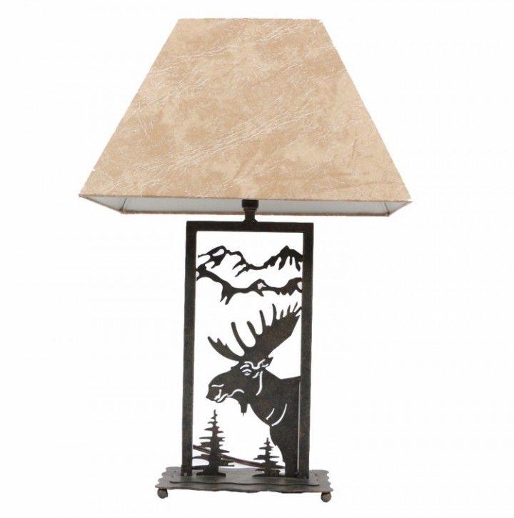 720x725 Moose Table Lamp Night Silhouette Decorative Desktop Home Metal