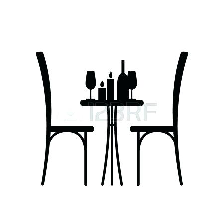 450x450 Table Silhouette Vector Silhouette People Sitting At The Table