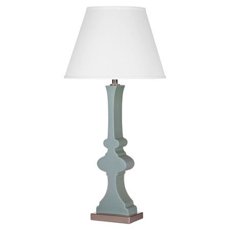 450x450 Ceramic Table Lamp In Satin Sage With An Urn Inspired Silhouette