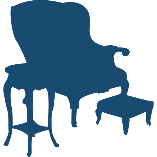 500x500 Armchair And Table Silhouette Vector Image Public Domain Vectors