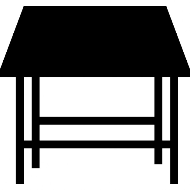 626x626 Studio Table Silhouette Perspective Icons Free Download