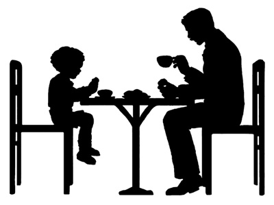 400x299 Of Father And Son Eating Together