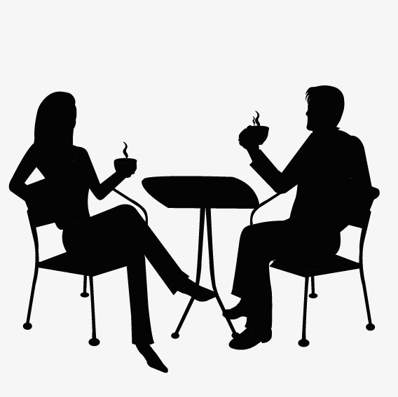 568x567 Couple Eat Silhouette, They, Eat Png And Vector For Free Download