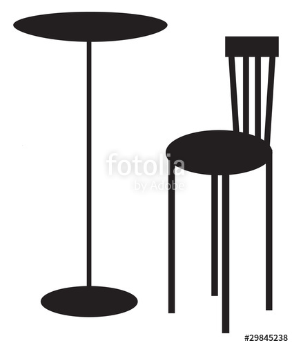 423x500 Table Amp Chair Silhouette Stock Image And Royalty Free Vector