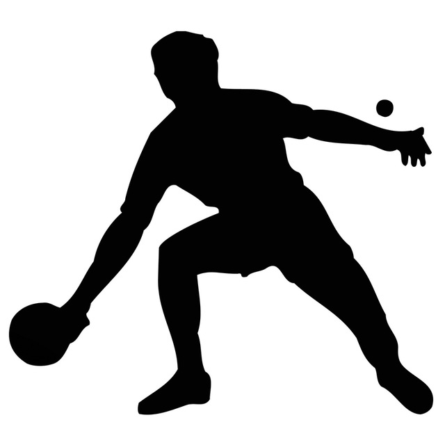 640x640 Hot Sale Table Tennis Player A Sports Silhouette Car Sticker