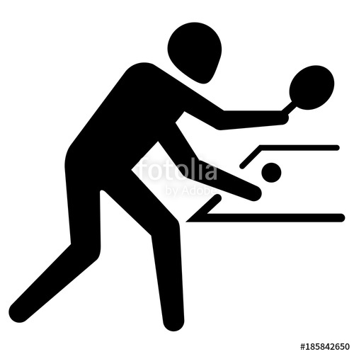 500x500 Illustration Depicts Pictogram Of Sport Table Tennis, Game Of Ping