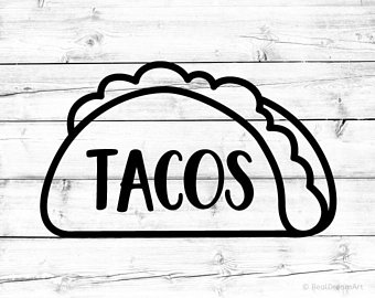 340x270 Taco Silhouette Svg Etsy