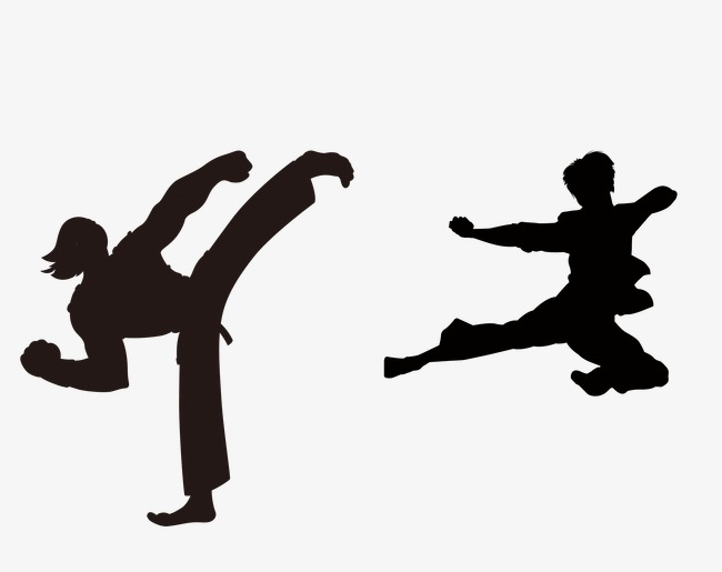 650x515 Taekwondo Silhouette Figures, Black Silhouette, Taekwondo, Fitness