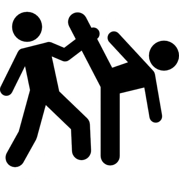 626x626 Taekwondo Couple Silhouettes Icons Free Download