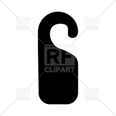 400x400 Door Tag Silhouette Royalty Free Vector Clip Art Image