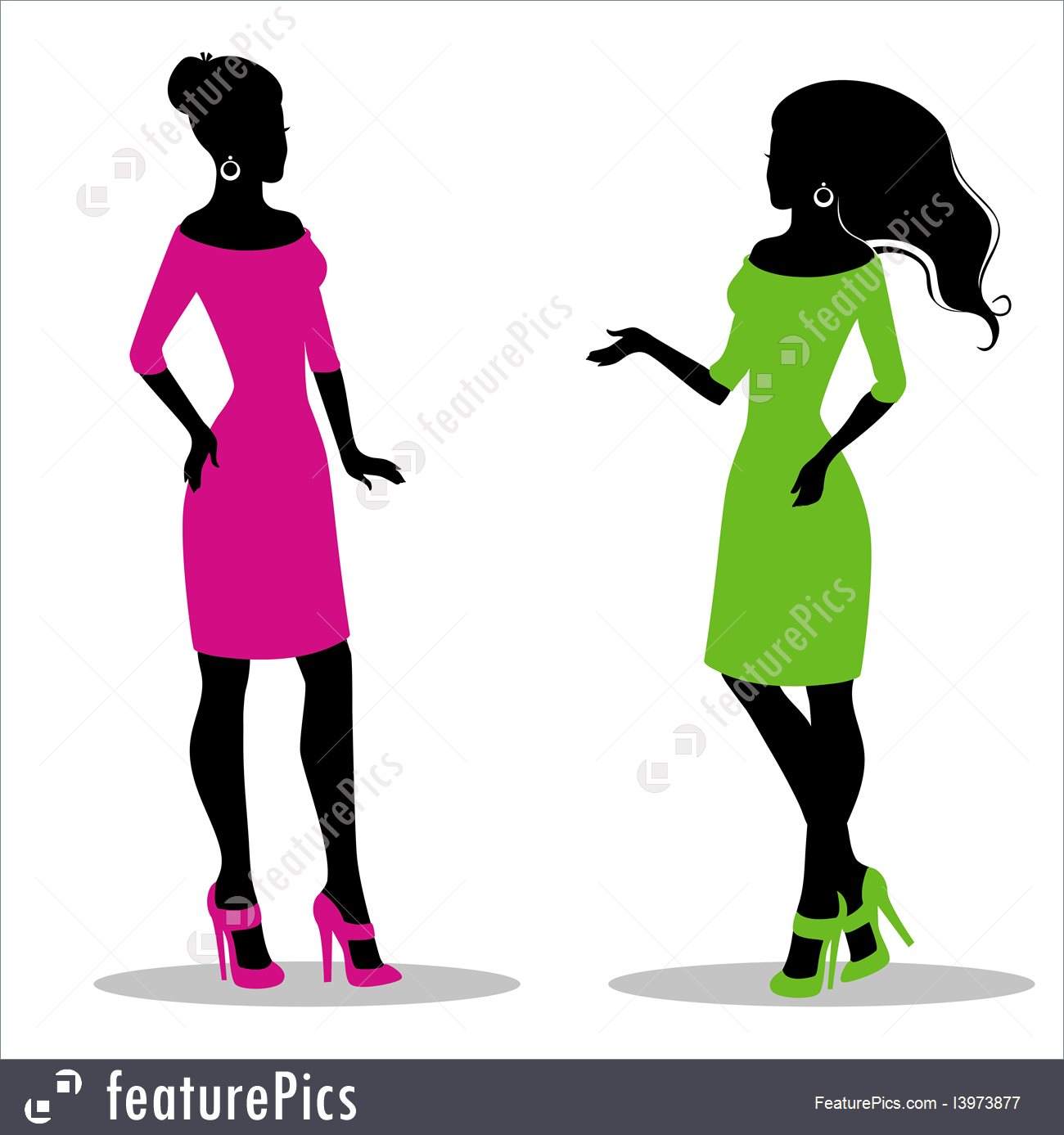 1300x1387 Illustration Of Woman#39s Silhouette