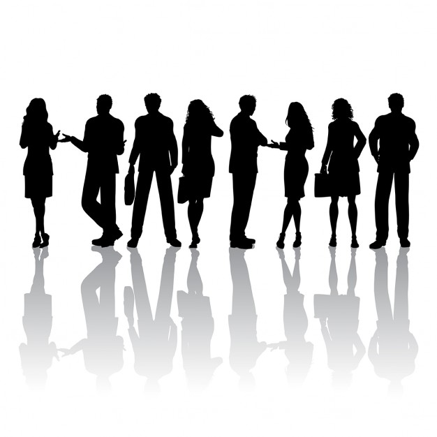 626x626 Silhouettes of people talking Vector Free Download
