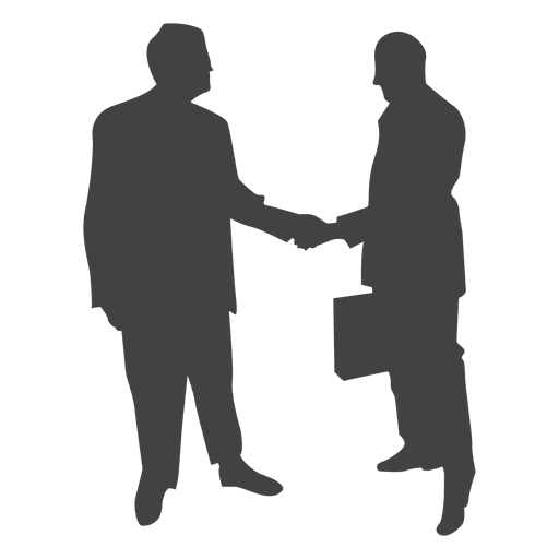 512x512 Two businessmen shaking talking silhouette