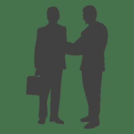 512x512 Two businessmen talking silhouette
