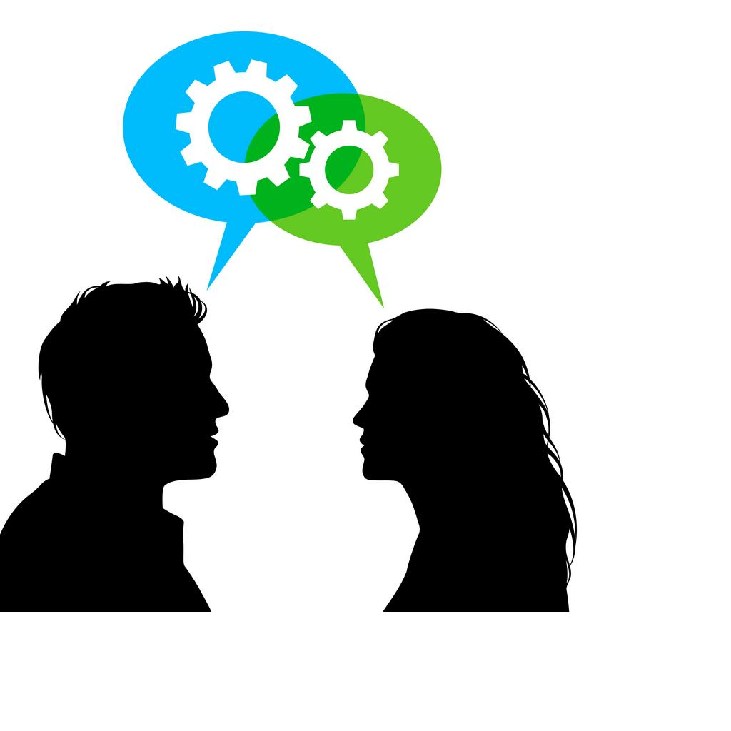 1024x1024 two people talking silhouette clipart
