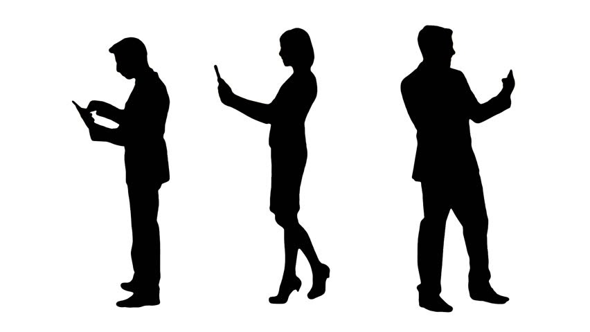852x480 Business People Talking Silhouette