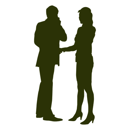 512x512 Businessman woman talking silhouette