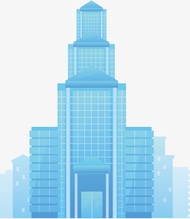 650x747 Blue Tall Building, Blue, Building, Cartoon Png And Vector