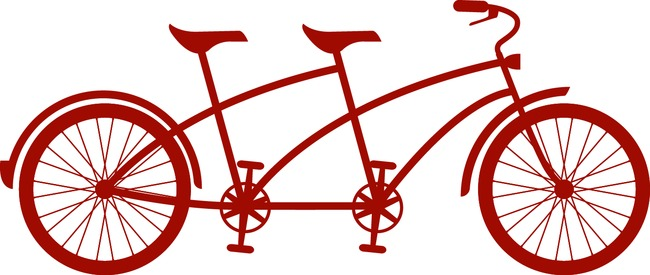 tandem bicycle silhouette at getdrawings com free for personal use rh getdrawings com tandem bicycle clipart wedding tandem bike clipart