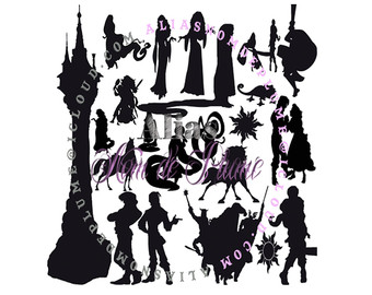 340x270 Rapunzel Silhouette Etsy