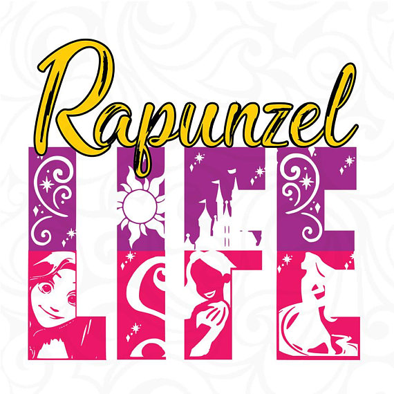 570x570 Tangled Svg, Rapunzel Silhouette Svg, Disney Princess Silhouette
