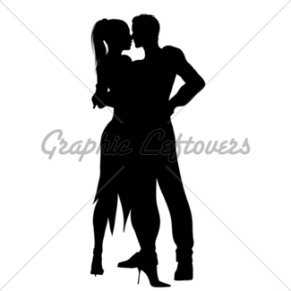 325x325 Latin Dancers Silhouette Gl Stock Images