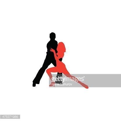 416x416 Latin Dancers Silhouettes Premium Clipart