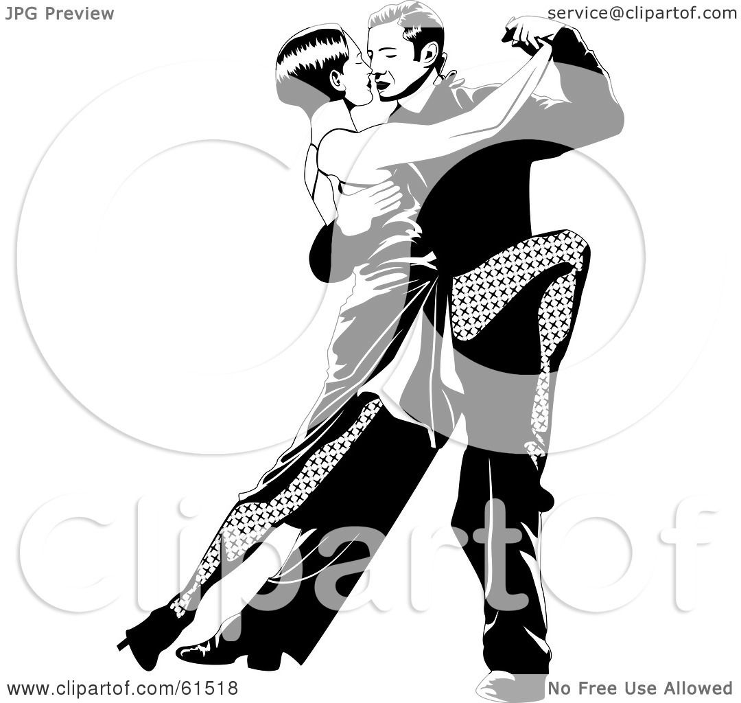 1080x1024 Royalty Free (Rf) Clipart Illustration Of A Passionate Tango