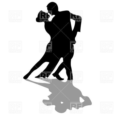 453x453 Tango Dancers Royalty Free Vector Clip Art Image