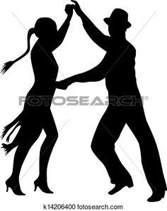 236x299 Silueta Hombre Mujer Pareja Bailando Tango Silueta Conjunto