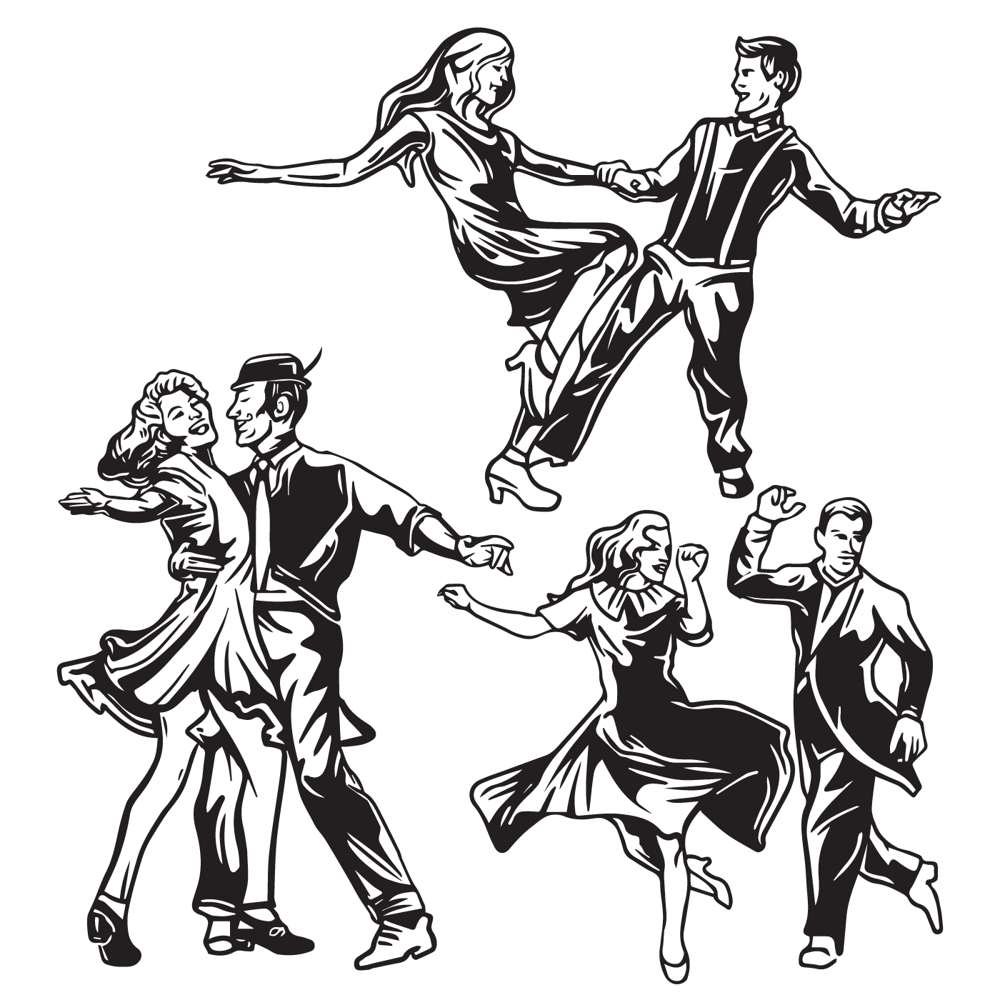1400x1400 Tap Dance Silhouette Assets For All