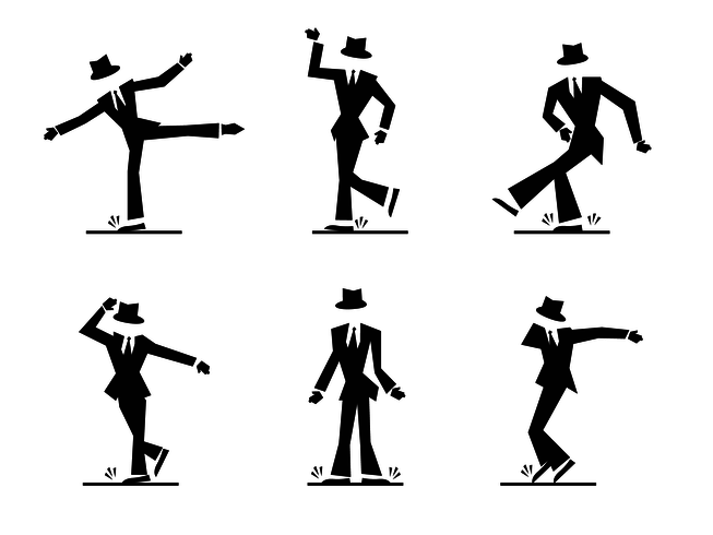 653x490 Cool Tap Dance Character Vector