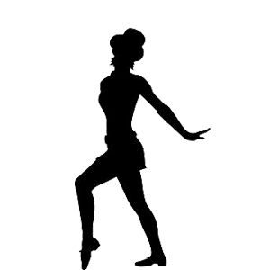 Tap Dancer Silhouette Clip Art