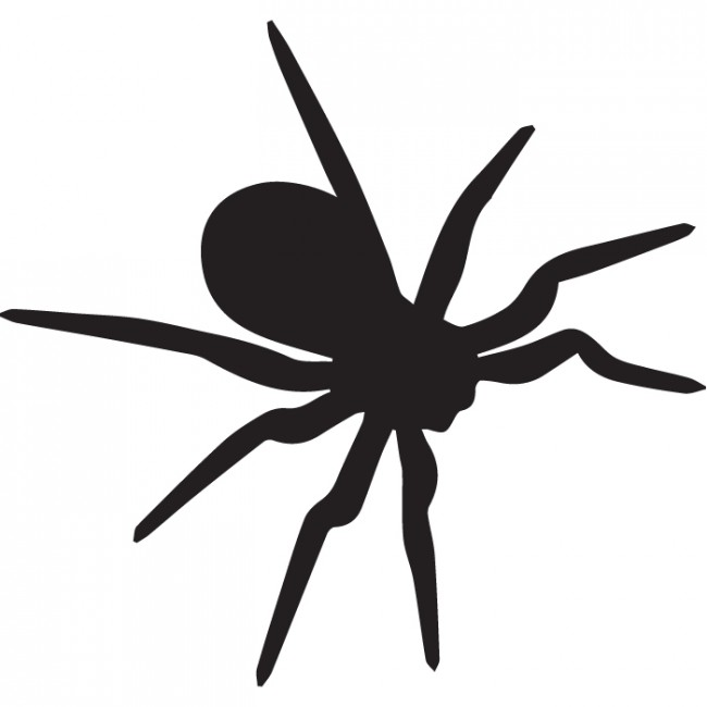 650x650 Tarantula Silhouette Wall Sticker Creative Multi Pack Wall Decal Art