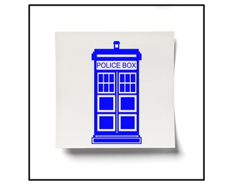340x270 Tardis Decal Tardis Sticker Dr Who Decal Dr Who Sticker