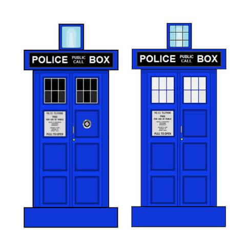480x480 Tardis Police Box Paper Toy Free Printable Papercraft Templates