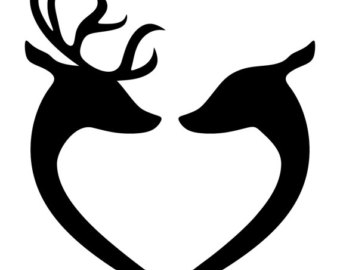 340x270 Deer Hunting Svg Silhouette Clipart Gone Hunting Deer