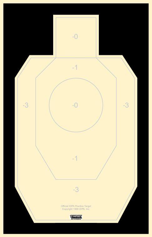 486x756 Idpa Paper Silhouette Target Tj Target