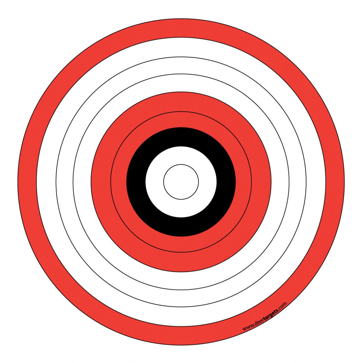 1224x1228 Free Printable Shooting Targets For Pistol, Rifle, Airgun, Archery