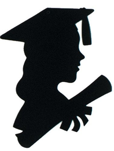 378x500 Girl Graduate Silhouette, 12 Inches Silhouettes, Girls And Grad